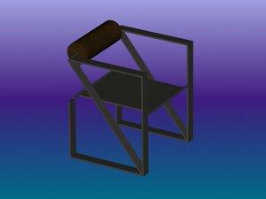 free 3ds model chair botta