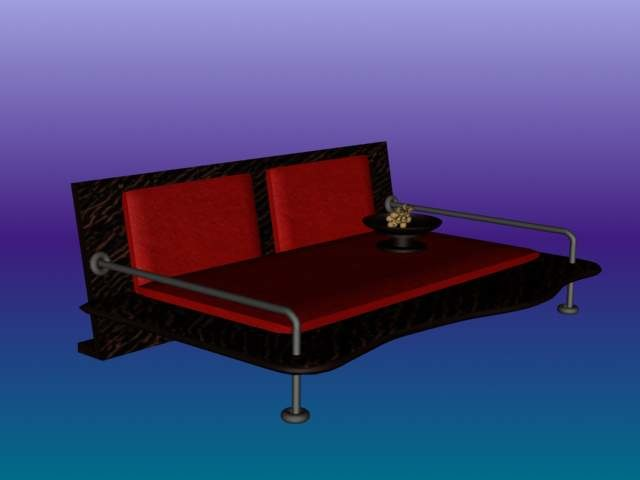 3d model daybed sofa