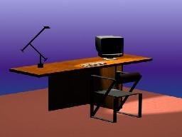 office table 3d 3ds