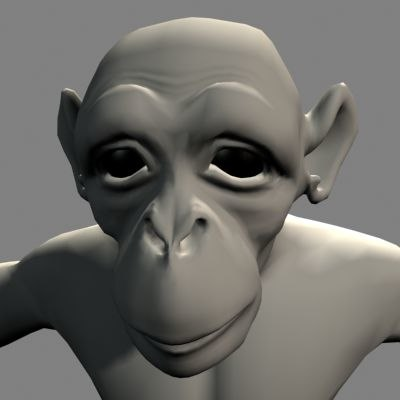 monkey chimpanzee 3d model