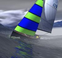 3d sailboat boat