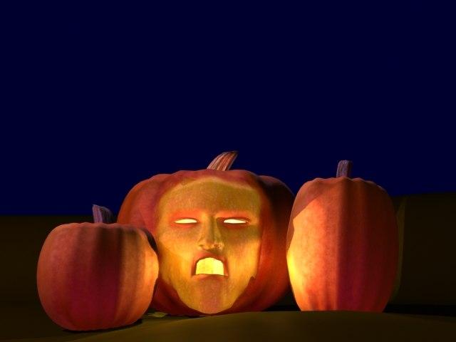 max pumpkins face