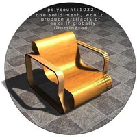 3d aalto chair