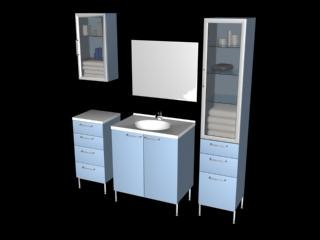 bathroom furnitures 3d model