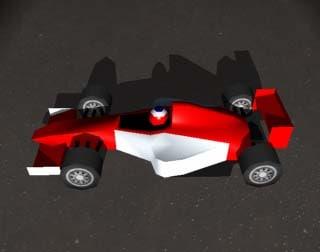 formula racing car 3d model
