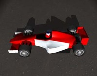 3d model of formula racing car