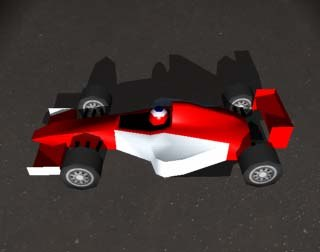 3d model of formula racing car