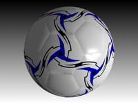 3d soccer balls