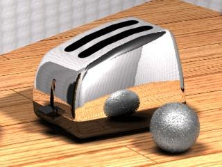 3d model toaster chrome