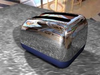 toaster chrome 3d model