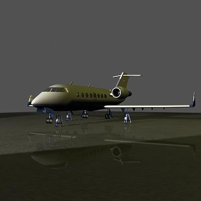 challenger plane airplane 3d model