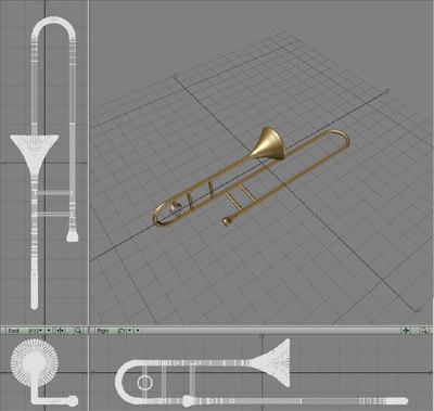 3d model trombone brass