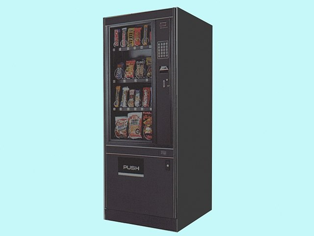 candy vending machine 3d model