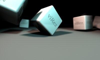 free falling blocks 3d model