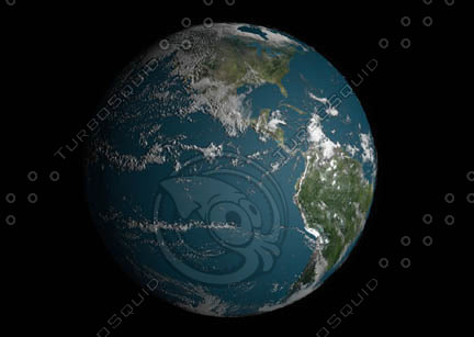3d form-z earth planet model