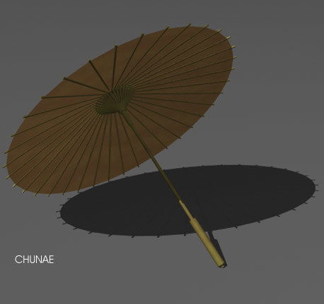asian umbrella japanese 3d ma