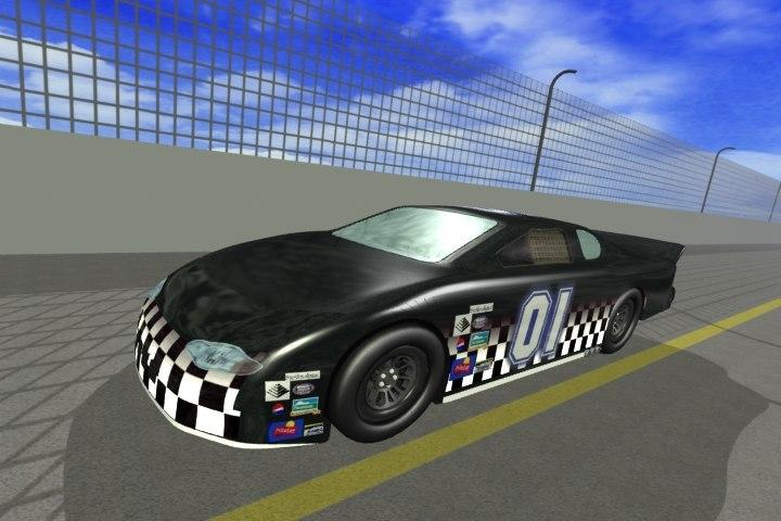 nascar race car 3d model