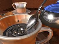 3d max coffee cup spoon
