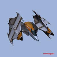 vulcan fighter 3d model
