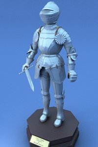armour amored 3d model