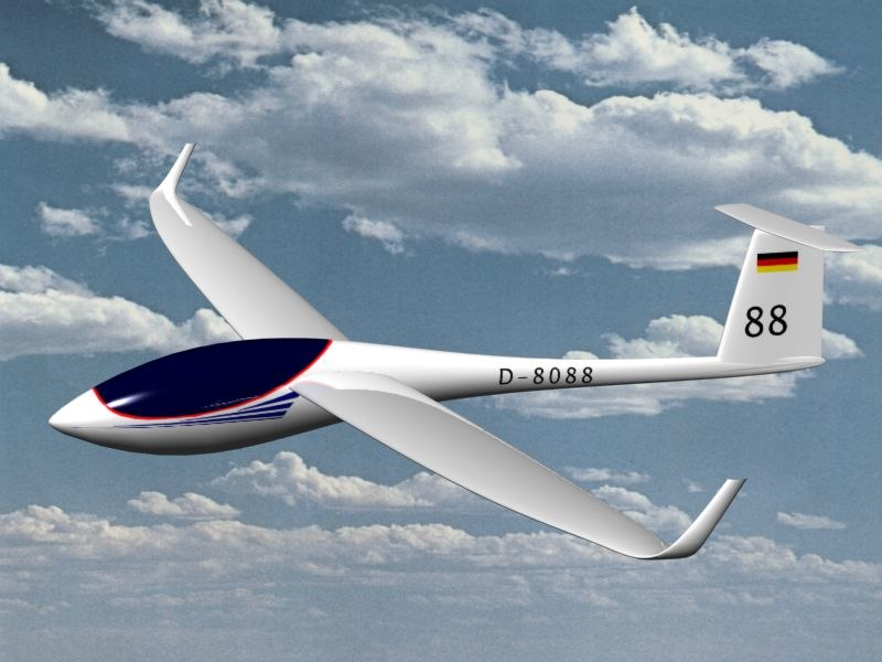 glider 3d model