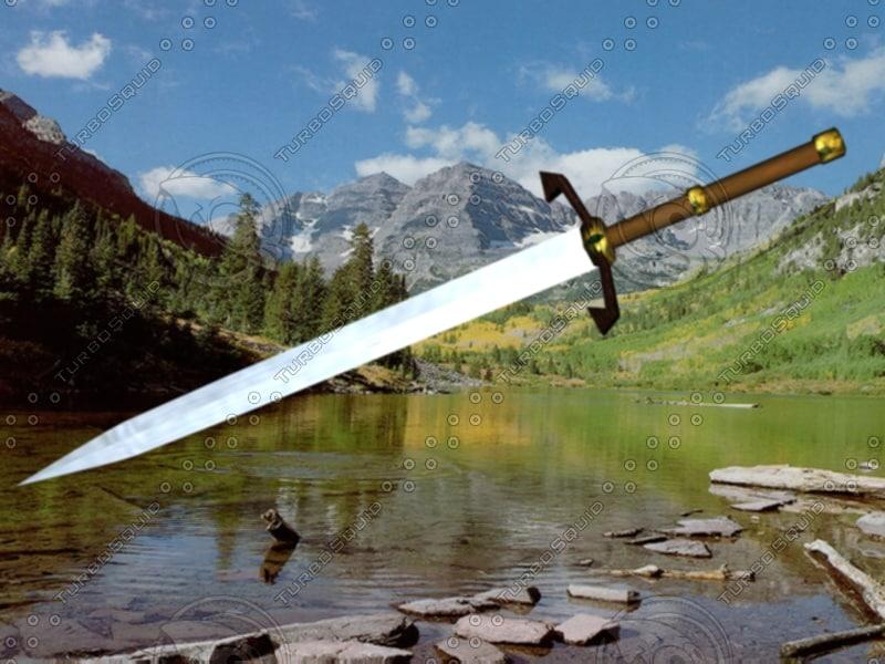 3d model of long sword