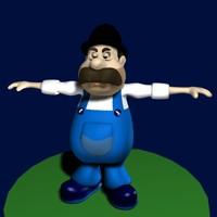 toon human male 3ds