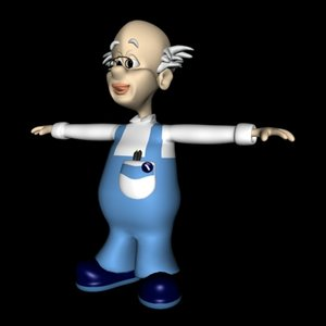 toon human male 3d 3ds