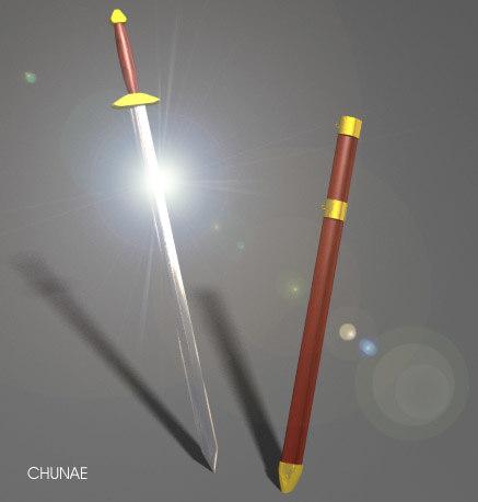3d model chinese sword