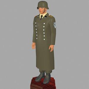 world war german uniform 3ds