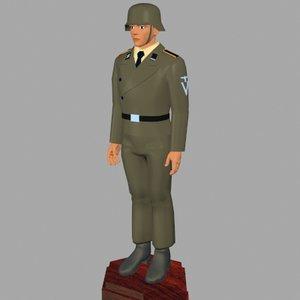 world war german 3d model