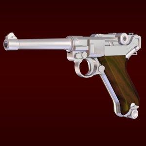 3d luger pistol