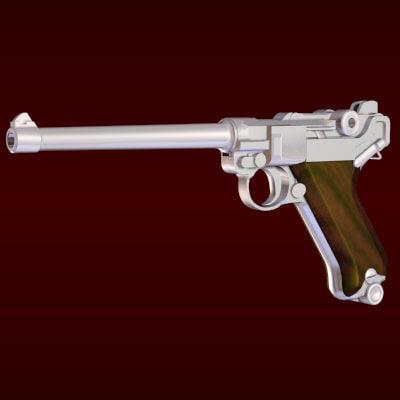 luger pistol navy 3ds