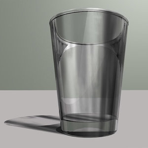 3d drinking glass model