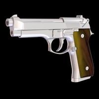 beretta pistol 3d odel