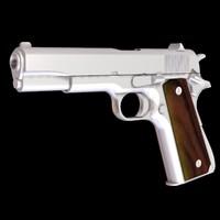 colt 45 pistol 3d model