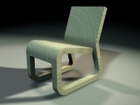 3d chair wood model