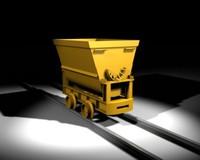 mining trolley 3d model