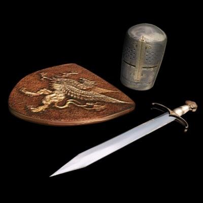 valiant armor sword helmet max