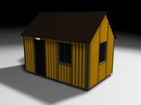 shed house 3d model
