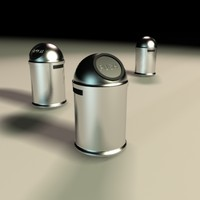 design trashcan metal 3d model