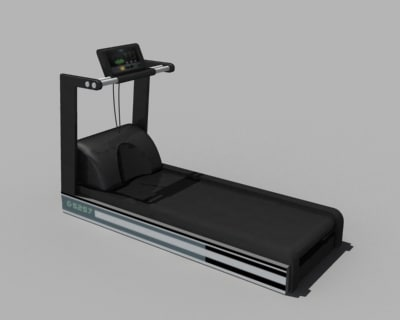 precor treadmill 3d model