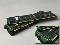 3d model of 128mb pc133 sdram legend