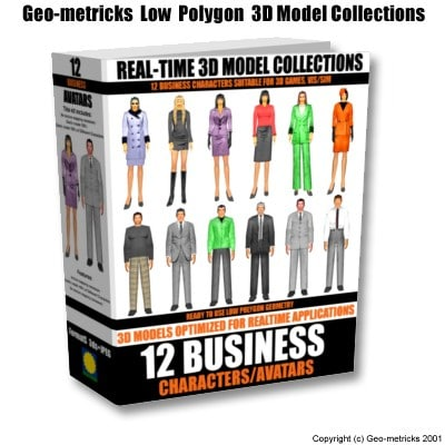 12 business characters 3d max