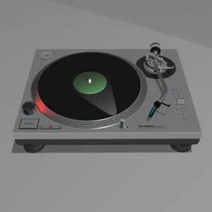 technics turntable 3d model