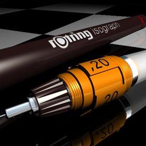 maya rotring pen rapido