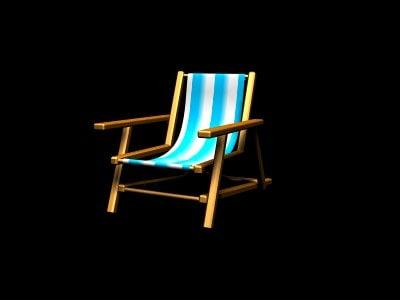 beach chair 3ds