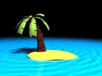 island palm tree 3d max