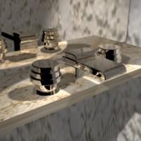 3dsmax faucett plumbing