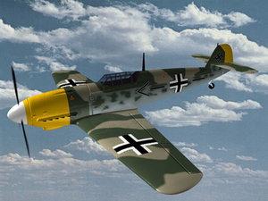ww2 fighter messerschmitt 3ds